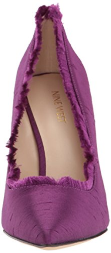 Nine West Women's Thayer Fabric Pump, Red Purple