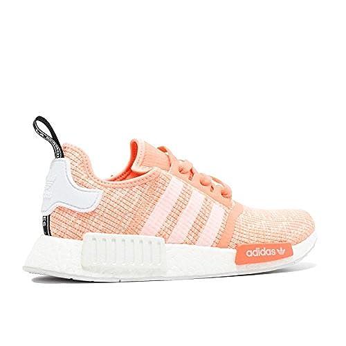 6cbbb43444a high-quality Adidas NMD R1 W Glitch Sun Glow Coral Pink Haze BY3034 US  Women s