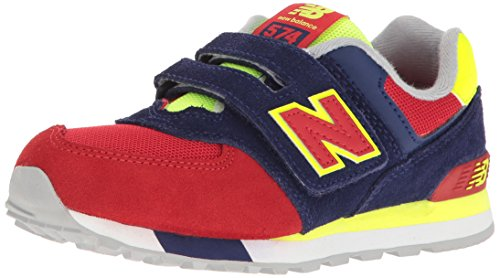 New Balance Unisex-Kinder 574 Hook and Loop High Visibility Sneakers, Marine