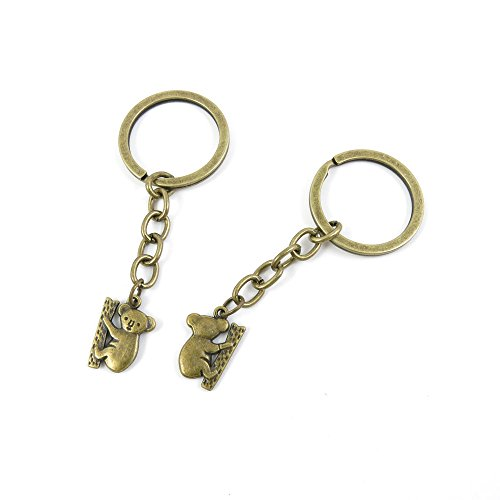 2 Pieces Antique Bronze Keychain Key Chain Tags Keyring Ring