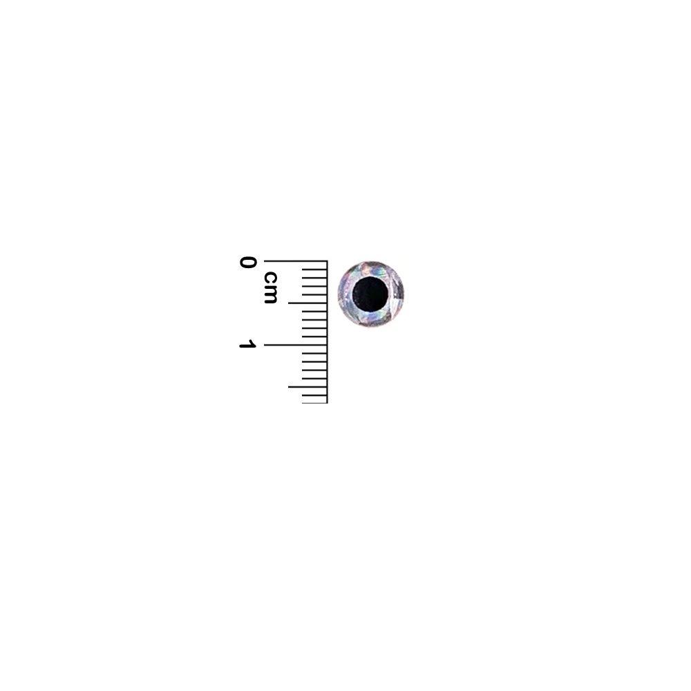 400 pcs Item #821 3D Fish Lure Eyes 8mm Sliver