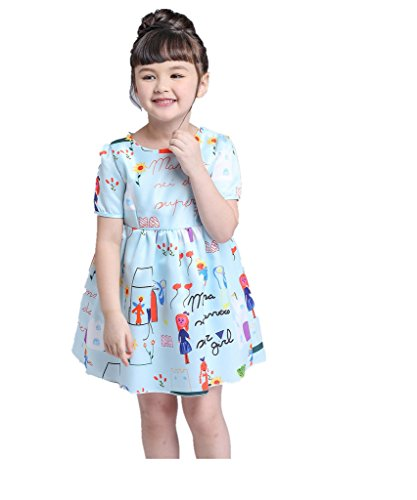 Toddler Sunny Fashion Girls Green playwear Mamma Party Sundress Dresses 2/8T by LUCKFACE