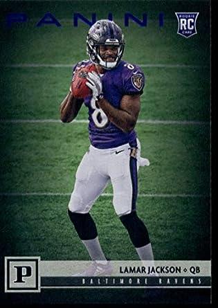 Amazon.com  2018 Panini Knight Blue  309 Lamar Jackson Ravens ... b1c9971d7