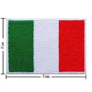 """Bandera nacional de Italia """" unidades 7,62 cm hierro bordado en remiendo Sew o por preguntármelo luna llena"""