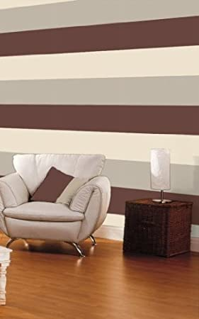 40928   Chocolate / Beige / Cream   Bold   Stripe   Wallpaper Part 68