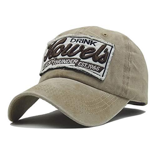 Sombrero de béisbol de los Hombres Mujeres Gorro de algodón de algodón  Ajustable Que se Lava  Amazon.es  Ropa y accesorios 066f83e04a5