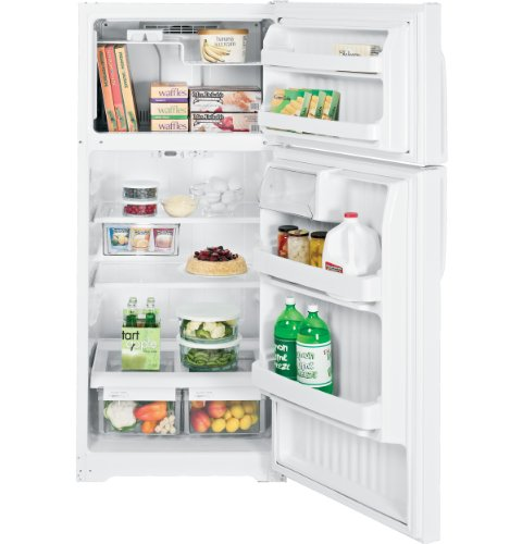 GE GTH17JBDWW 16.5 Cu. Ft. White Top Freezer Refrigerator - Energy Star
