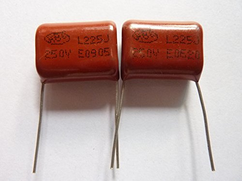 E-First 10PCS CL21 225J 250V 2.2UF 2200NF P20 Metallized Film Capacitor ()