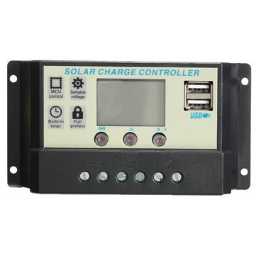 Solar Charge Controller - 12V Battery Charge Controller - 10/20A 12/24V Auto Solar Panel Battery Regulator Charge Controller Pwm Battery Charging - 20A (Battery Charge Controller)