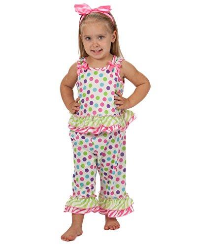 Laura Dare Baby Girls Gumballs Bow Top PJ Set, 18m ()