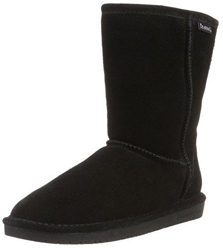 BEARPAW Women's, Emma Short Sheepskin Boots Black 6 M ()