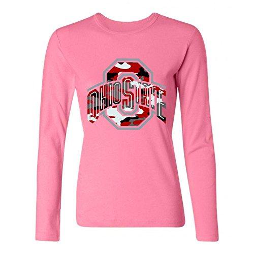 SDUAE Women's Ohio State Buckeyes Logo Long Sleeve T Shirt