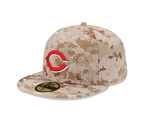 MLB Cincinnati Reds Authentic On Field Alt2 59FIFTY Cap, Camo, 8 3/8