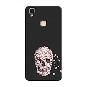 Cover It Up Skull Flower Hard Case For Vivo V3 Max - Multi Color