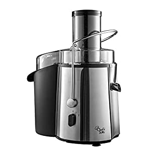 Chef's Star Juc700 Juicer Wide Mouth Fruit and Vegetable Juice Extractor, Stainless Steel