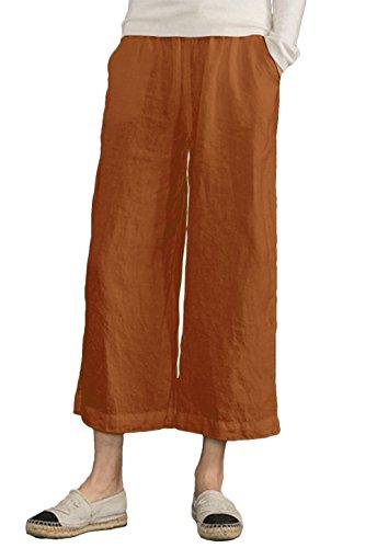 Yellow Cropped Pants - 4