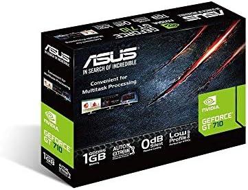 ASUS GT710-SL-1GD5 GeForce GT 710 1 GB GDDR5 - Tarjeta gráfica (GeForce GT 710, 1 GB, GDDR5, 32 bit, 2560 x 1600 Pixeles, PCI Express x16 2.0)