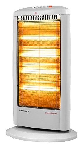 Orbegozo BP 0303 Calentador halógeno eléctrico, 1200 W, Blanco: Amazon.es: Hogar