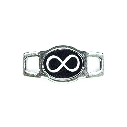 Paracord Planet Infinity Charms for Paracord Bracelets and Shoelaces Available in Black and Purple (Black)