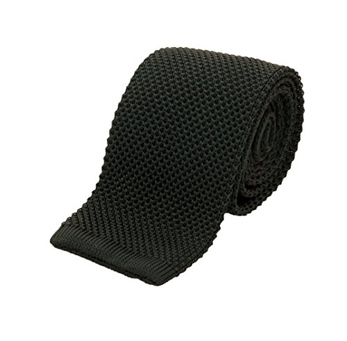Benchmark Ties 100% Silk Knit Tie in Forest Green (2.5