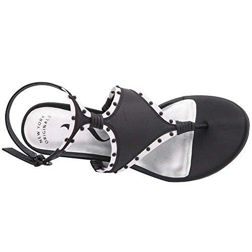 Casual Nina nappa Sandals Womens white Open Platform Toe vevilla Black wqTq7I