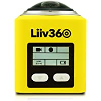 Liiv360 LV-360-Y 2448p x 2448p 30fps 360 Degrees Panoramic Action Camera with 0.96 Display, Yellow
