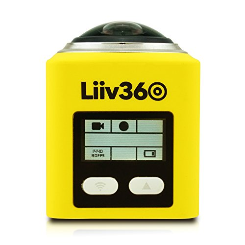 Liiv360 LV-360-Y 2448p x 2448p 30fps 360 Degrees Panoramic Action Camera with 0.96
