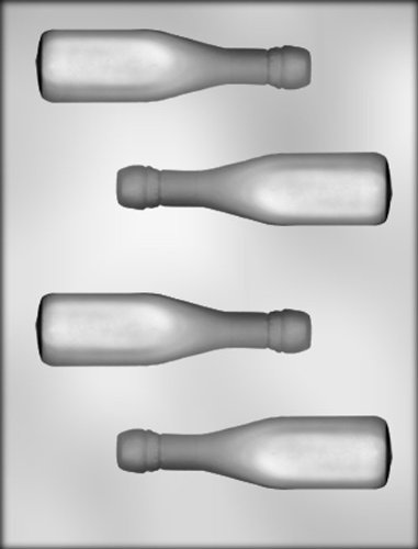 CK Products 4-5/8-Inch 3-D Champagne Bottle Chocolate Mold 3 D Candy Molds