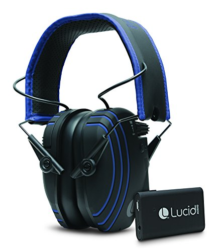 Streamer Neck (Lucid Audio AMPED Sound Amplifying Bluetooth Hearing Headphones with Wireless TV Streamer - Black/Blue)