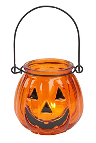 Biedermann & Sons Glass Jack O' Lantern Tealight Holders (Box of 6), Small ()