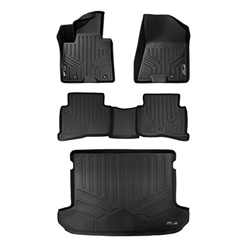 - MAX LINER A0244/B0206/D0244 Custom Fit Floor Mats and Cargo Liner Behind 2nd Row Upper Deck Set Black for 2017-2019 Kia Sportage
