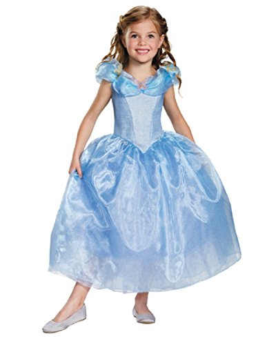 Disney Cinderella Live Action Costume (Disguise Girls Cinderella Live Action Girls' Cinderella Deluxe Costume, G (10-12))
