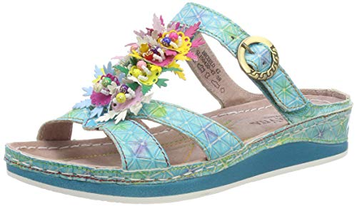 turquoise Para Vita Mules Turquoise Brcuelo Mujer 42 Laura awY7xfq6w