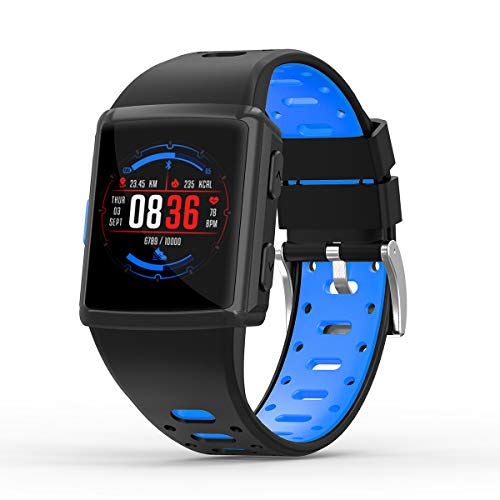 SMA-M3 GPS Sport Smart Watch for Man for Women Fitness Tracker Heart Rate Monitoring Watches as Gift (Blue)