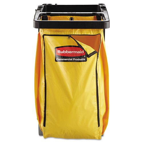 Rubbermaid Commercial 1966881 Vinyl Cleaning Cart Bag, 34 gal, Yellow, 17 1/2w x 10 1/2d x 33h - Capacity Cleaning Cart