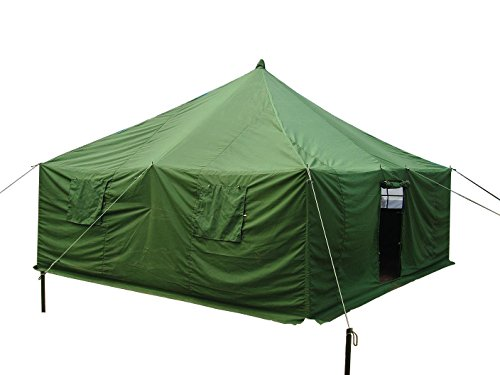 Dream House 14.8′ X 14.8′ Heavy Duty Waterproof Canvas Military Camping Refugee Relief Tent Construction Site Tent