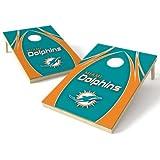 Wild Sports NFL Miami Dolphins 2′ x 3′ V Logo Cornhole Game Set