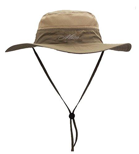 Camping Hat Outdoor Quick-dry Hat Sun Hat Fishing Cap (khaki)