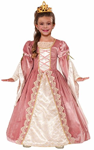 [Forum Novelties Designer Collection Deluxe Victorian Rose Costume Dress, Child Medium] (Queen Costumes For Girls)