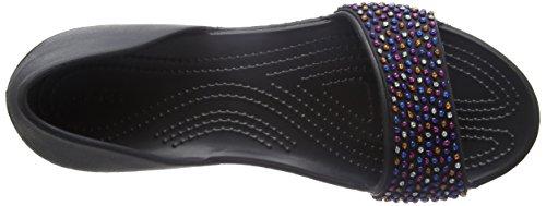Nero para MLTI Multi Crocs Embellish Dorsayflat Mujer Black Blk Crocslina Bailarinas qxIw8S