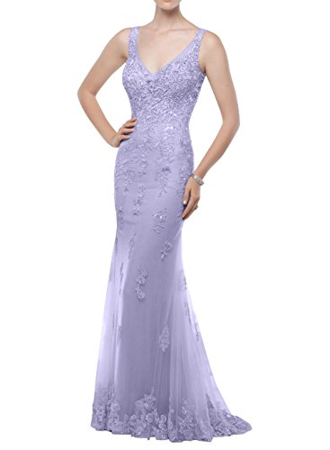 La Lilac Festlichkleider Brau 2018 Neu Abschlussballkleider Spitze Lang Meerjungfrau Figurbetont mia Brautmutterkleider Abendkleider FAqFO