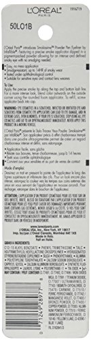 L'Oréal Paris Infallible Smokissime Powder Eyeliner Pen, Black Smoke, 0.032 oz. (Packaging May Vary)