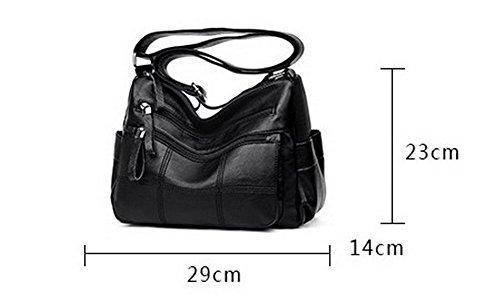Des Cuir Zippers à Odomolor Pu Achats sacs Femme Noir ROFBL180915 Sacs bandoulière t7aawIqU