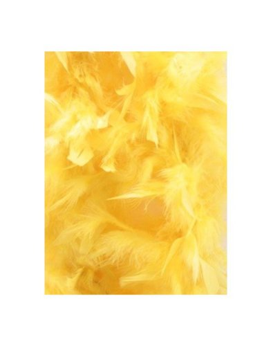 Yellow 6 Foot 60 Gram Feather Boa