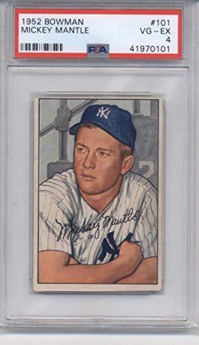 Amazoncom 1952 Bowman 101 Mickey Mantle Yankees Psa 4
