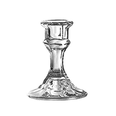 """Libbey 4"""" Candlestick Holder, Clear"""