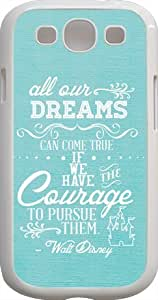 Dreams Walt Disney Quote For HTC One M7 Case Cover cover case - Custom Personalized For HTC One M7 Case Cover case