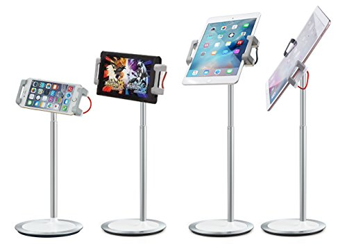 idee PTS02W Height & Angle Adjustable Commercial Graded Aluminum Table Stand for iPads Tablets and Smart Phones, 360 Degree Rotate Mount Designed for Store POS, Office & Home Desktop and more by idée (Image #4)