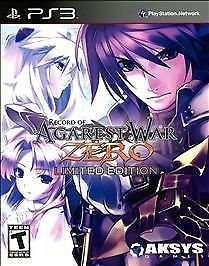 *NEW* Record of Agarest War Zero Limited Edition - PS3