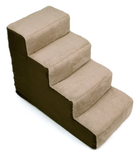 Dallas Manufacturing Co. 4 Step Home Décor Pet Steps, Brown & Tan